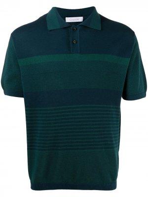 Рубашка поло в полоску Cruciani. Цвет: зеленый
