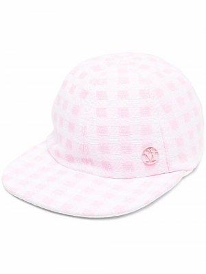 Двусторонняя кепка в клетку Maison Michel. Цвет: розовый