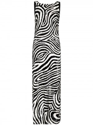 Вечернее платье макси с пайетками Ashish. Цвет: черный