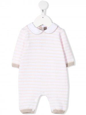 Трикотажная пижама в полоску Little Bear. Цвет: розовый