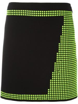 Мини-юбка с заклепками Christopher Kane. Цвет: черный