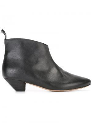 Ботинки с миндалевидным носком Marsèll. Цвет: черный