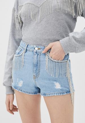 Шорты джинсовые Chiara Ferragni Collection. Цвет: голубой