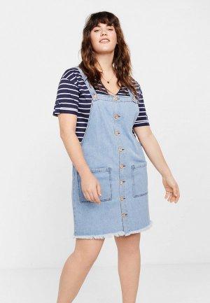 Платье джинсовое Violeta by Mango. Цвет: голубой