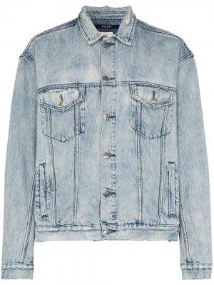 Джинсовая куртка из вареного денима Ksubi. Цвет: синий