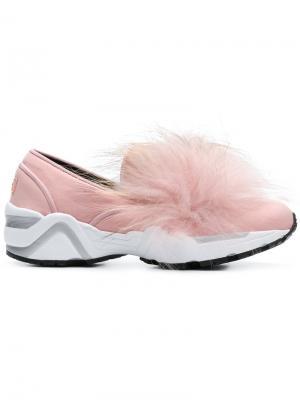 Кроссовки с отделкой мехом Suecomma Bonnie. Цвет: розовый