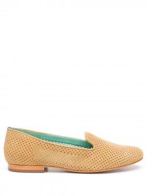 Слиперы с перфорацией Blue Bird Shoes. Цвет: нейтральные цвета