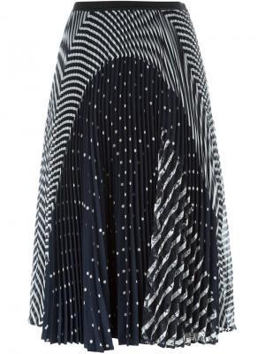 Плиссированная юбка с принтом Antonio Marras. Цвет: синий