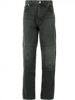 Зауженные джинсы с эффектом потертости Martine Rose. Цвет: черный