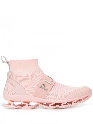 Жаккардовые кроссовки-носки Philipp Plein. Цвет: розовый