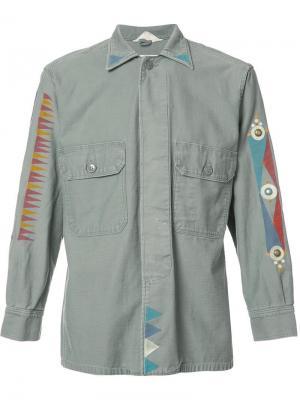 Рубашка с принтом Htc Los Angeles. Цвет: зеленый