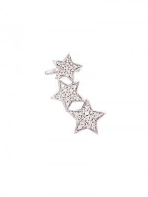 Ушной кафф Stasia с бриллиантами Alinka. Цвет: золотистый