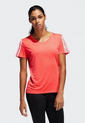 Футболка спортивная adidas. Цвет: красный