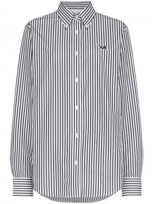 Поплиновая рубашка в полоску Calvin Klein Jeans Est. 1978. Цвет: белый