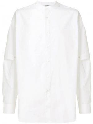 Рубашка с воротником-мандарин и рукавами многослойным эффектом Chalayan. Цвет: белый