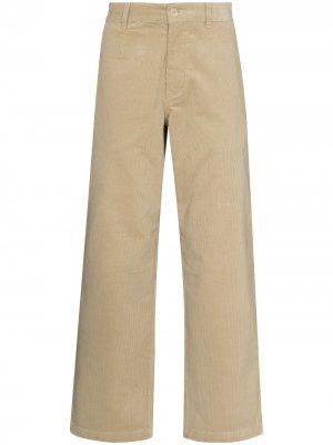 Расклешенные брюки Wood. Цвет: нейтральные цвета