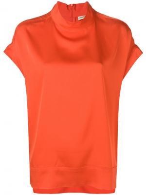 Футболка мешковатого кроя с высоким воротом By Malene Birger. Цвет: оранжевый