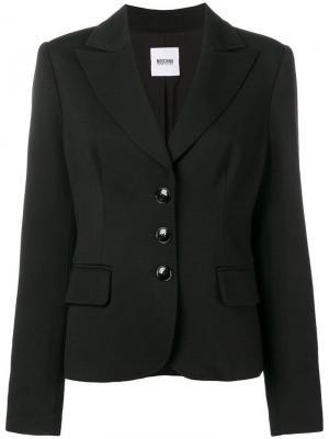 Облегающий пиджак в стиле 1990-х Moschino Vintage. Цвет: черный