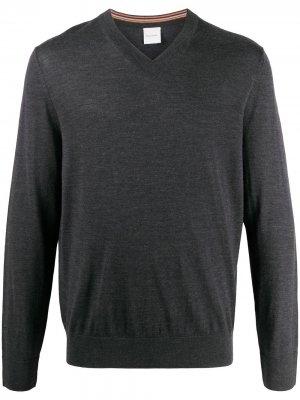 Пуловер с V-образным вырезом Paul Smith. Цвет: серый