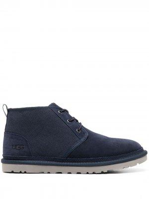 Вельветовые ботинки Neumel UGG. Цвет: синий
