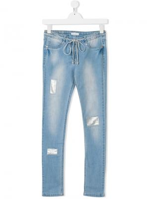 Облегающие джинсы с декоративными вставками Elsy. Цвет: синий