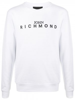Джемпер с логотипом John Richmond. Цвет: белый
