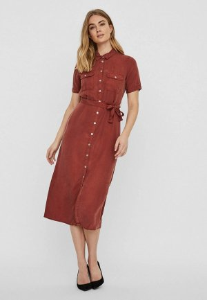 Платье Noisy May. Цвет: коричневый