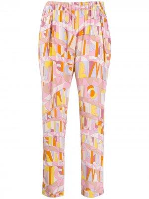 Укороченные брюки с геометричным принтом Emilio Pucci. Цвет: разноцветный