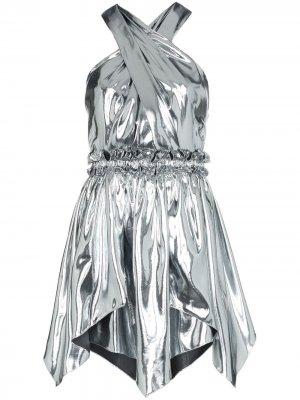 Платье мини Kary с эффектом металлик Isabel Marant. Цвет: золотистый