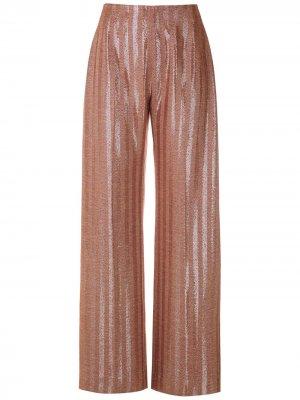 Жаккардовые брюки прямого кроя À La Garçonne. Цвет: красный