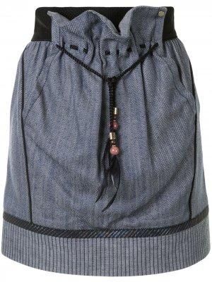 Мини-юбка со вставками Louis Vuitton. Цвет: синий