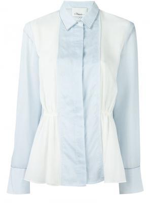 Рубашка с панельным дизайном 3.1 Phillip Lim. Цвет: белый