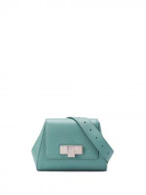 Поясная мини-сумка Bottega Veneta. Цвет: синий