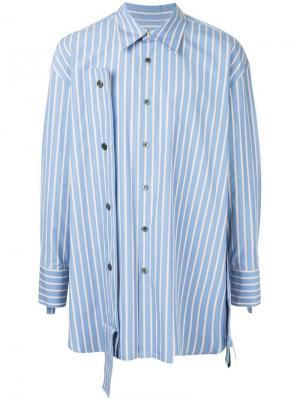 Рубашка в полоску с лямками Wooyoungmi. Цвет: синий