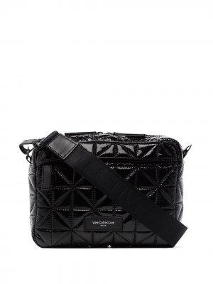 Стеганая сумка через плечо VeeCollective. Цвет: черный