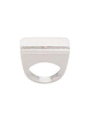 Декорированное кольцо из белого золота Ann Demeulemeester. Цвет: серебристый