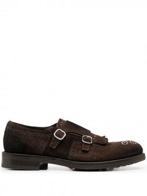 Doucals декорированные туфли монки Doucal's. Цвет: коричневый