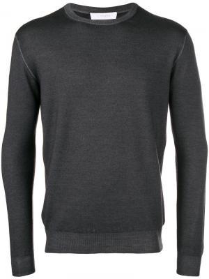 Round neck jumper Cruciani. Цвет: серый