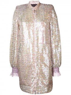 Платье Sokoto с пайетками Talbot Runhof. Цвет: розовый