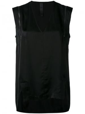 Блузка шифт с молнией Ilaria Nistri. Цвет: черный