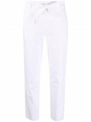 Укороченные брюки с завязками Kristensen Du Nord. Цвет: белый