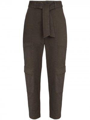 Зауженные брюки Athena J Brand. Цвет: коричневый