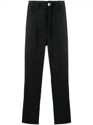 Укороченные брюки строгого кроя LANVIN. Цвет: синий