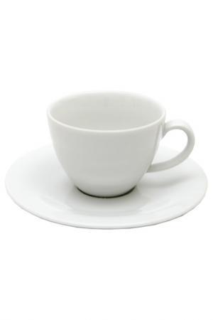 Чашка с блюдцем KAHLA. Цвет: белый
