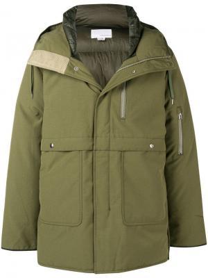 Padded parka coat Nanamica. Цвет: зеленый