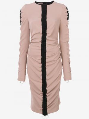 Платье с присборенной отделкой Marco Bologna. Цвет: нейтральные цвета