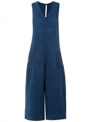 Wide leg jumpsuit Osklen. Цвет: синий