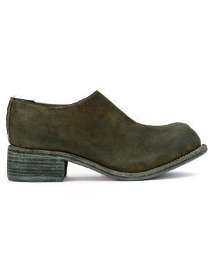 Ботинки слипон Guidi. Цвет: зеленый