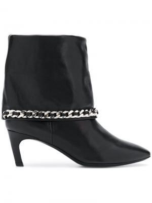Chain embellished ankle boots Marc Ellis. Цвет: черный