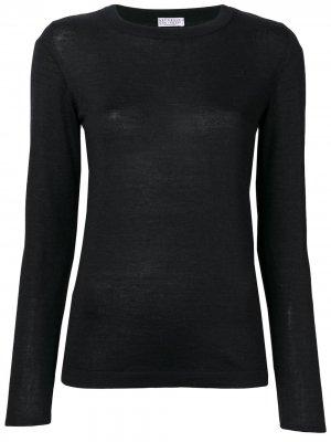 Long-sleeve fitted sweater Brunello Cucinelli. Цвет: черный